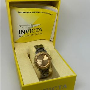 Invicta Women's Ceramics Gold Tone Watch